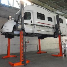 Pont mobile 4 colonnes camping-car