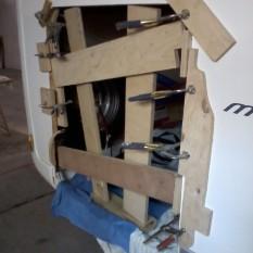Consolidation structure cadre portillon